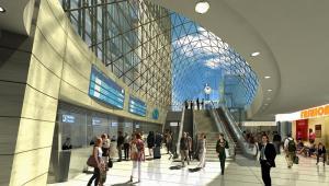 Dworzec Zachodni w Warszawie -WNĘTRZE DWORCA - wizualizacja PKP SA