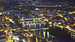 Frankfurt nad Menem, widok z lotu ptaka