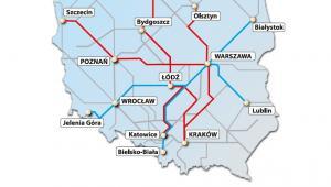 Mapa inwestycji taborowych PKP Intercity