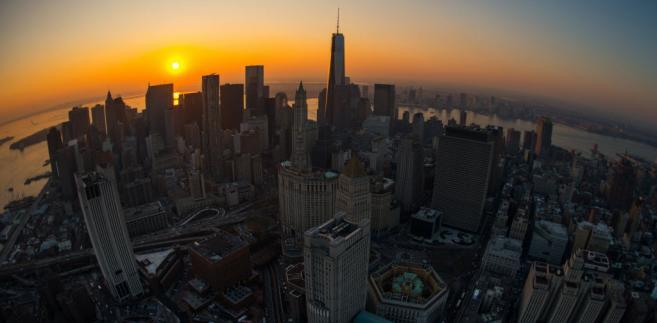 Nowy Jork - zachód słońca