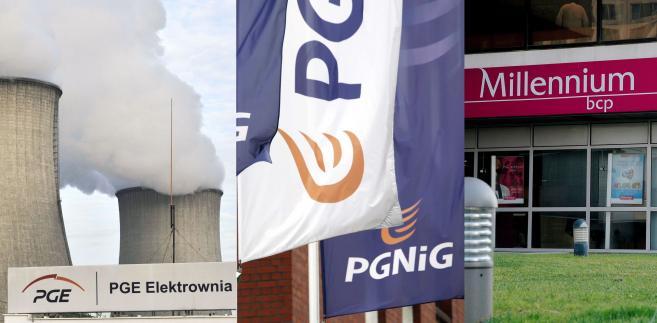 PGE, PGNiG, Bank Millennium