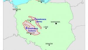 Obszary perspektywiczne dla wystepowania gazu ziemnego zamkniętego (tight gas) w Polsce według raportu PIG. Źródło: raport PIG