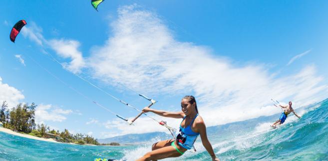 kitesurfing, wakacje, lato, sport, woda