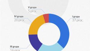 Udział produkcji w poszczególnych grupach przedsiębiorstw w przetwórstwie przemysłowym