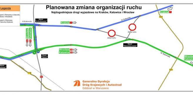 Trasa S8 Opacz-Paszków - na razie wyjazd w kierunku Wrocławia i Katowic