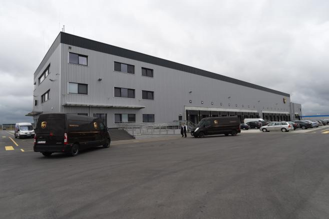 Centrum w Dobrej k. Strykowa jest największą inwestycją UPS w Polsce.<br><br> fot. (gm/mr) PAP/Grzegorz Michałowski
