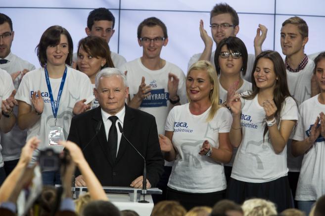 Jarosław Kaczyński, wieczór wyborczy Prawa i Sprawiedliwości, 25.10.2015