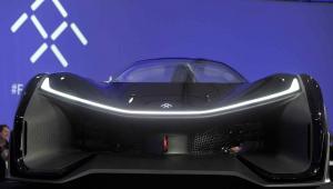 Samochód z rozszerzoną rzeczywistością - model FFZERO1 Fot. EPA/ANDREJ SOKOLOW Dostawca: PAP/EPA.