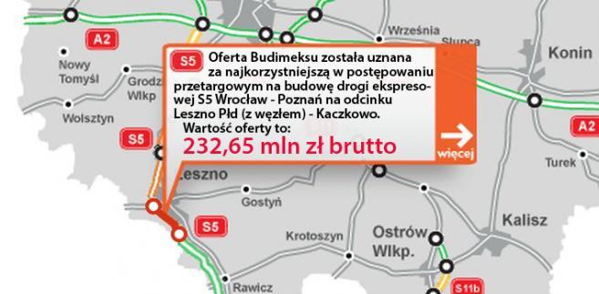 S5 Wrocław - Poznań, odcinek Leszno Płd (z węzłem) - Kaczkowo