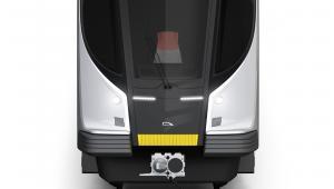 Pesa. Widok z przodu koncepcji pociągu metra