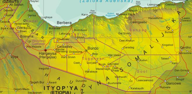 Mapa Somalilandu, Fot. Aotearoa, CC BY-SA 3.0