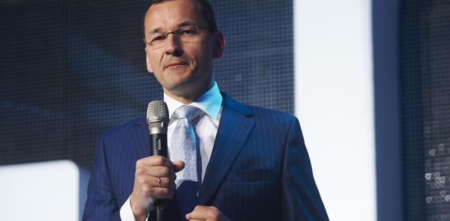 Mateusz Morawiecki w trakcie pierwszego dnia VI Europejskiego Kongresu Finansowego w Sopocie.