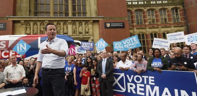 Premier David Cameron za pozostaniem w UE