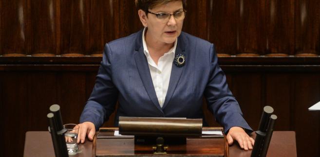 Premier Beata Szydło przedstawia w Sejmie informację ws. Brexitu