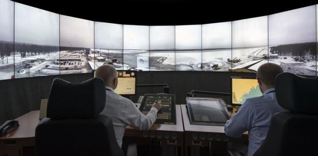 Zdalna wieża kontroli lotów w Szwecji