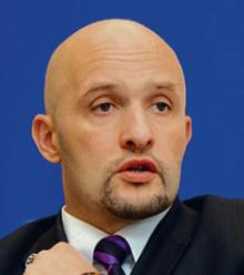 Janis Sarts, <b>dyrektor Centrum Eksperckiego Komunikacji Strategicznej NATO w Rydze</b> fot. materiały prasowe