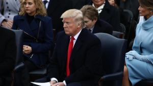 Donald Trump w czasie zaprzysiężenia na 45. prezydenta USA, Waszyngton, 20.01.2017
