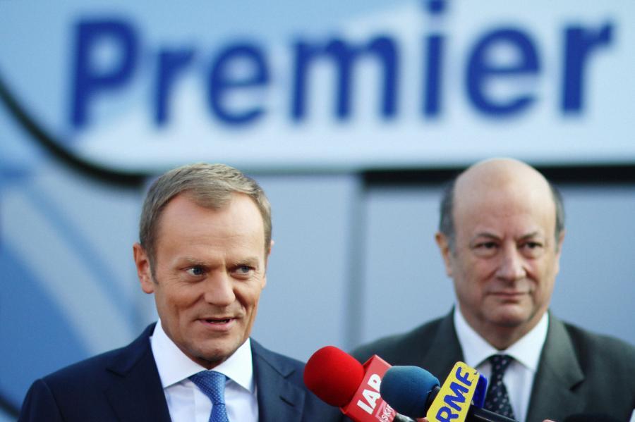 Donald Tusk wraz z Jackiem Rostowskim