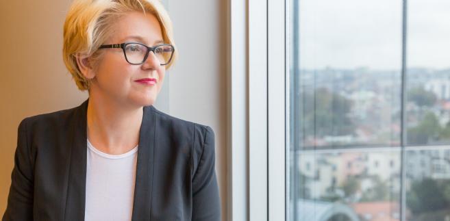 Agnieszka Kozłowska-Rajewicz w swoim biurze w Parlamencie Europejskim