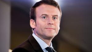 Emmanuel Macron. Wystąpienie w głównej siedzibie pratii En Marche! w Paryżu, 10.04.2017