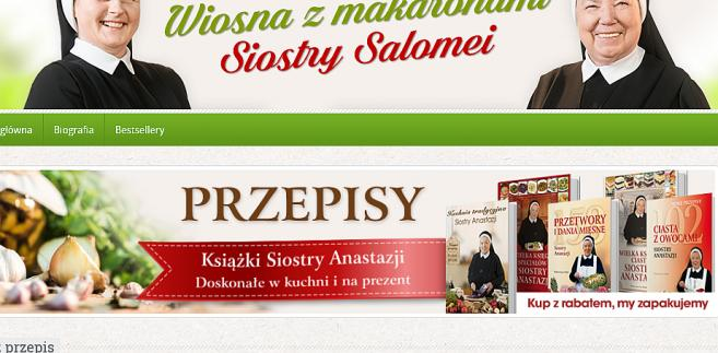 Książki z przepisamy siostry Anastazji stały się bestsellerem Poczty Polskiej, źródło: siostra-anastazja.pl