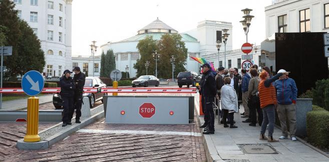 Protesty przed Sejmem