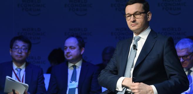 Mateusz Morawiecki w Davos