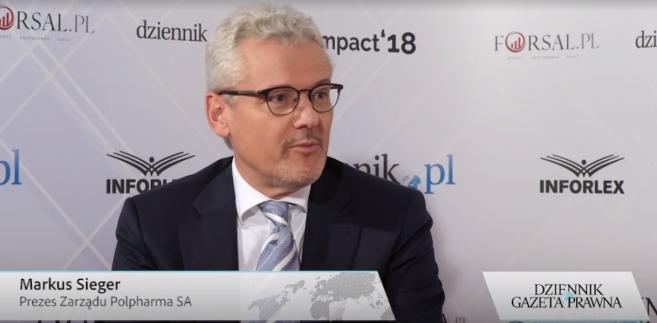 Markus Singer, prezes Polpharmy