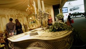 Luksusowe wnętrze wystawie w Moskwie