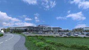 Widok docelowego terminalu w Radomiu od strony wjazdu głównego