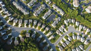 Osiedle domów jednorodzinnych w Atlancie w stanie Georgia