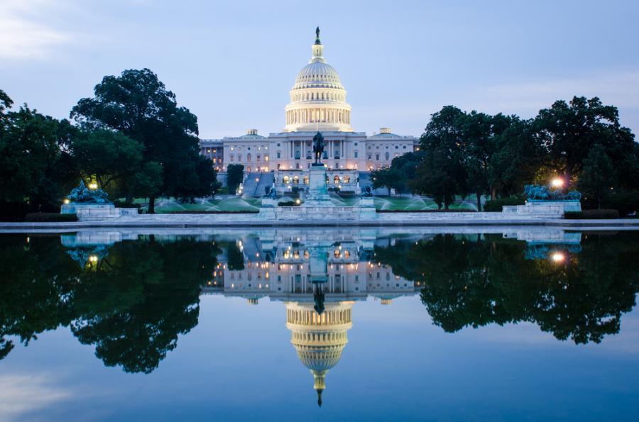 Kapitol Stanów Zjednoczonych, Waszytngton. Siedziba Kongresu.