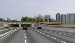 S2, południowa obwodnica Warszawy. Fot. Mosty Katowice (wizualizacja)