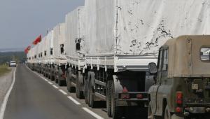 Rosyjski konwój z pomocą humanitarną EPA/YURI KOCHETKOV Dostawca: PAP/EPA