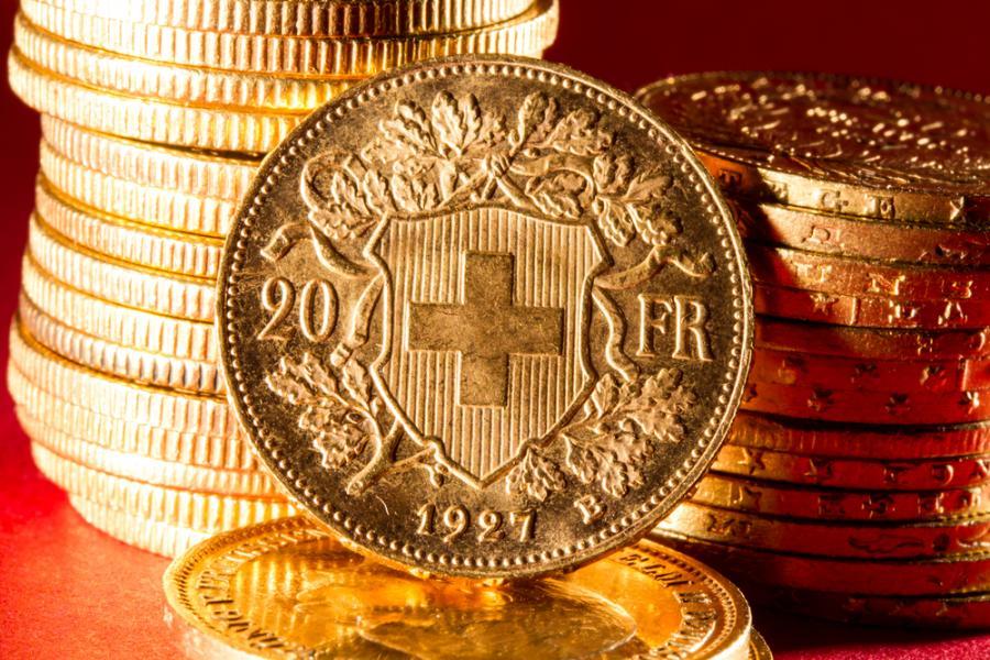 frank szwajcarski, monety