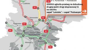 S1 - druga jezdnia S1 w rejonie lotniska Pyrzowice