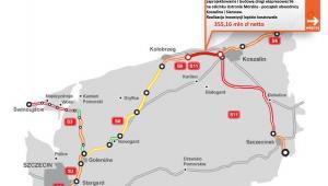 S6 - odcinek Ustronie Morskie - początek obwodnicy Koszalina
