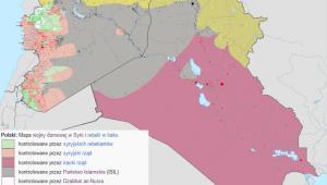 Mapa terenu kontrolowanego przez Państwo Islamskie w Syrii i Iraku, Autor: Haghal Jagul