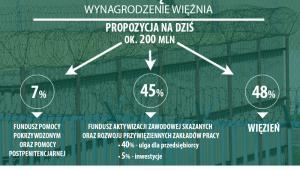 Program prawy więźniów - planowany podział wygrodzeń osadzonych, źródło: MS