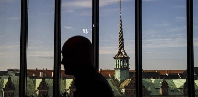 Kopenhaga widziana z okna budynku duńskiego banku centralnego, Dania, 23.09.2014