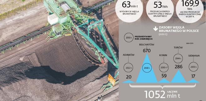 Zasoby węgla brunatnego w Polsce