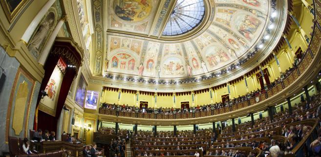 Hiszpański parlament w czasie debaty. Madryt, Hiszpania, 2.03.2016