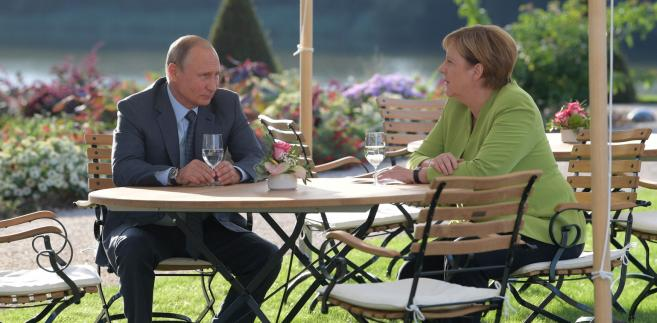 Spotkanie Merkel Putin