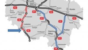 Odcinek drogi ekspresowej S5 Poznań–Wrocław między węzłem Leszno Południe, a Kaczkowem w kierunku Wrocławia