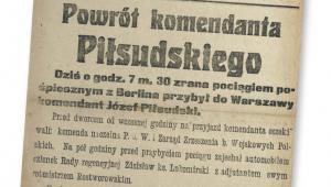 """Pierwsza strona """"Kuriera Warszawskiego"""" z 10 listopada 1918 r. fot. mat. prasowe"""