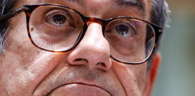 Giovanni Tria, włoski minister finansów. 5.11.2018, Bruksela, Belgia