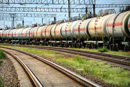 pociąg, transport kolowy, tory, cysterny