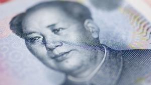 Mao Zedong widoczny na chińskim banknocie o nominale 10 juanów. 1 października 1949 na placu Tiananmen Mao ogłosił powstanie Chińskiej Republiki Ludowej.