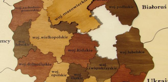 Mapa Polski, puzzle, fot. Malgorzata Kistryn