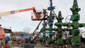 Wydobycia gazu łupkowego w USA